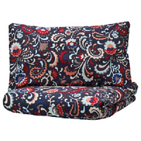 NEW KRATTEN Quilt cover & pillowcase,dark grey multicolour,150x200/50x80 cm IKEA