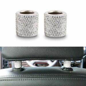 Car Seat Headrest Collar Decor Accessories Rhinestone Bling Car Interior