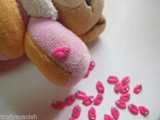 Decorazioni rosa senza marca strass per unghie