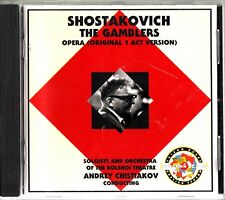 SHOSTAKOVICH-The Gamblers-Opera-Bolshoi Theatre Orchestra CD -Andrey Chistiakov
