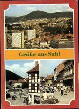 Postkarte AK Grüße aus Suhl Thüringen Mehrbild Fotografie Stadtansicht gelaufen