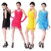 AU【PLUS SIZE】 LATIN Dance COSTUME 20S Charleston Gatsby Carnival Fringe Dress