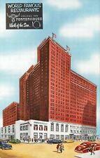 Chicago Illinois~The Sherman Hotel~Art Deco Corner Restaurant~Garage~1950s PC
