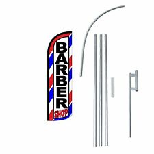 Barber shop Windless Swooper Flag With Complete Kit
