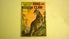 VINTAGE AUSTRALIAN 1960s CLASSIC ILLUSTRATED COMIC, No 123 FANG & CLAW