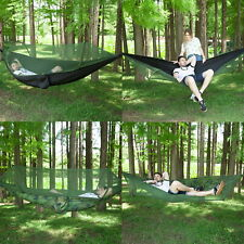 Lightweight Camping Double Hammock with Mosquito Net Hanging Bed Outdoor Travel