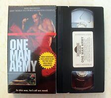 VHS: One Man Army: rare kickboxing PROMO screener