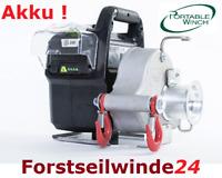 Forstseilwinde, Spillwinde, Seilwinde PCW 3000 Li  Akku tragbar Weltneuheit