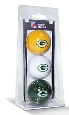 Green Bay Packers 3 Pack Golf Balls [NEW] NFL Golfing Pk CDG