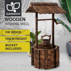 Gardeon Outdoor Garden Ornaments Wishing Well Planter Bucket Wooden Decor XL