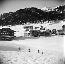 MONTGENÈVRE c. 1947 - Station de Ski  Hautes Alpes - Négatif 6 x 6 - N6 PROV29
