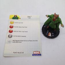 Heroclix Hammer of Thor set Owl #030 Uncommon figure w/card!