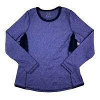 Tek Gear Women Medium Scoop Neck Long Sleeve Top Shirt Activewear Running Purple