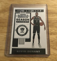 THREE KEVIN DURANT BROOKLYN NETS 2019-20 PANINI CONTENDERS BASKETBALL CARD #57
