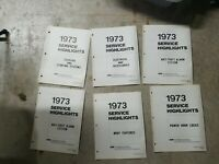 1973 FORD MERCURY SERVICE HIGHLIGHTS BOOKLETS 6 ISSUES LIKE NEW 6 BOOKS