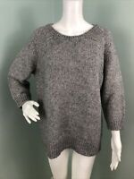 NWT Women's Ann Taylor 3/4 Sleeve Gray Cable Pointelle Sweater Sz XL