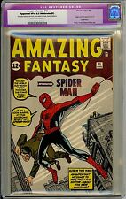 AMAZING FANTASY #15 CGC 8.5 VF+ RESTORED STAN LEE KEY ORIGIN BOOK RARE!