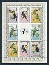 [104865] Belize 1986 Birds vögel oiseaux toucans Miniature sheet MNH