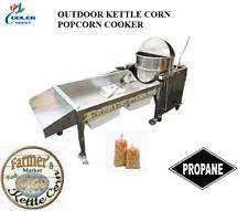 New Kettle Corn Gourmet Popcorn Popper 90 Quart Commercial Cooker Machine