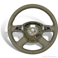 OEM Audi A4 A6 A8 Q7 Kamut Beige Leather Multimedia Steering Wheel 8K0419091B1KZ