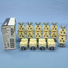 10 Cooper Ivory COMMERCIAL Duplex Outlet Receptacles NEMA 5-20R 20A 125V CR20V