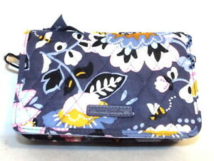 Vera Bradley RFID 3-In-1 Cross Body Wallet Charmont Meadow Fits Large Phones