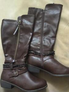 Women's Brown Gemma/2950 Wide Width Boots Size 11W