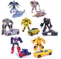 Seibertron Autobots Robots Optimus Prime Bumblebee Action Figures Kids Toys 3''
