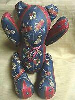 """14"""" Handmade Faceless GOLF TEDDY BEAR w/ Movable Limbs """"One-of-a-Kind"""""""