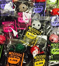 VOODOO DOLL GOD OF JOBS KEY CHAIN ZIPPER PULL NEW SEALED LUCKY CHARM.