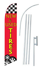 Windless / New Used Tires Swooper Banner Bow Flag Sign sw10609