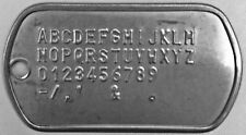 Stainless Steel Matte US Military Dog Tag GI Issue Custom Embossed Print