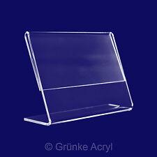 L Aufsteller A4, 10x Querformat Acrylglas Ständer Tischaufsteller, Display Preis