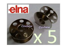 ELNA SEWING MACHINE BOBBINS METAL x 5 - old SWISS ELNA Only ZZ SP SU LOTUS etc