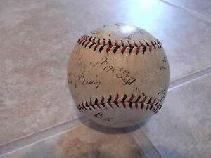 1933 Chicago Cubs Team Signed Baseball Kiki Cuyler Hartnett Herman PSA Certified