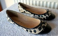 New Leopard Print Flat/Low Heel, Leather-lined, Ballet Flats Pumps Shoes, Size 4