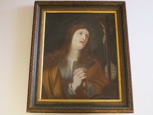 ANTIQUE 18TH CENTURY OLD MASTER PAINTING RELIGIOUS ICON PORTRAIT SACRED