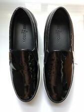 c8a465749516 LOUIS VUITTON womens slip on trainers black patent leather size 39.5 eu 6.5  uk