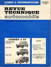 RTA REVUE TECHNIQUE AUTOMOBILE CITROEN 3CV 1961 1968 BERLINE BREAK FOURGONNETTE