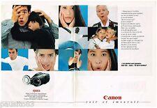 PUBLICITE ADVERTISING 095  1991  CANON caméscope EPOCA ( 2 pages)
