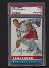 1954 Topps #56 Edgar Laprade, PSA 5 EX, Vintage NY Rangers NHL Hockey 1954-55