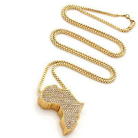 Fashion Africa Map Gold Plated Necklace African Country Pendant Chain