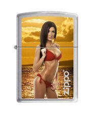 Zippo Lighter: Nikki Looking Sexy at Sunset - Brushed Chrome *Sexy Pin-up Girl*