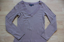 BODEN  brown cotton long sleeve top size 8  NEW