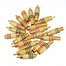 20 x RCA Male Plug Solder Audio Video Cable Adapters Connector Gold Plated