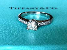 TIFFANY & CO  PLATINUM NOVO DIAMOND ENGAGEMENT RING .68 CT H VVS2  $7k size 5