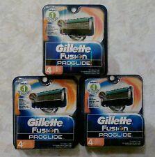 GILLETTE Fusion Proglide Razor Blades - 12 Blades (3 Packs of 4 Blades)