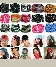 1O Pc Bandana Bikers Motorcycle Riding Neck Face Mask Protection Tube Head Bands