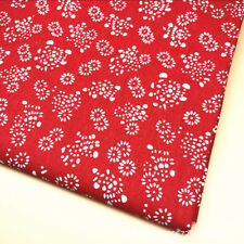 50x150cm Cotton Linen Fabric DIY Craft Material Print Mini Sunflower Red 8130d F