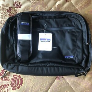Patagonia Transport Shoulder 26L Briefcase Bag Black Laptop Bag Travel Carry On